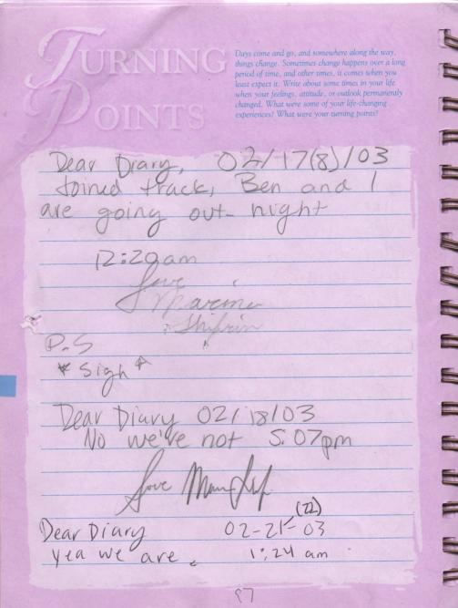 Teen diary